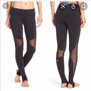 Alo Yoga Coast Mesh Inset Stirrup Leggings